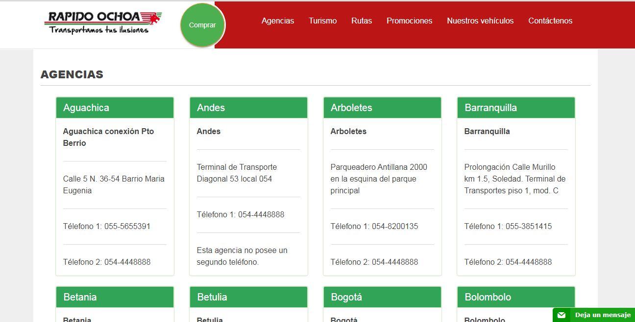 Agencias Rápido Ochoa Online