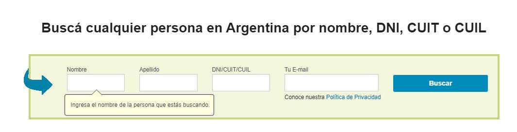Cómo Buscar Datos De Una Persona En Argentina